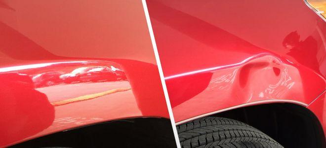 Способы и технологии устранения вмятин на кузове автомобиля без покраски