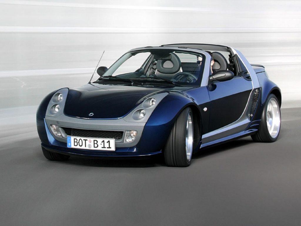 smart roadster blue