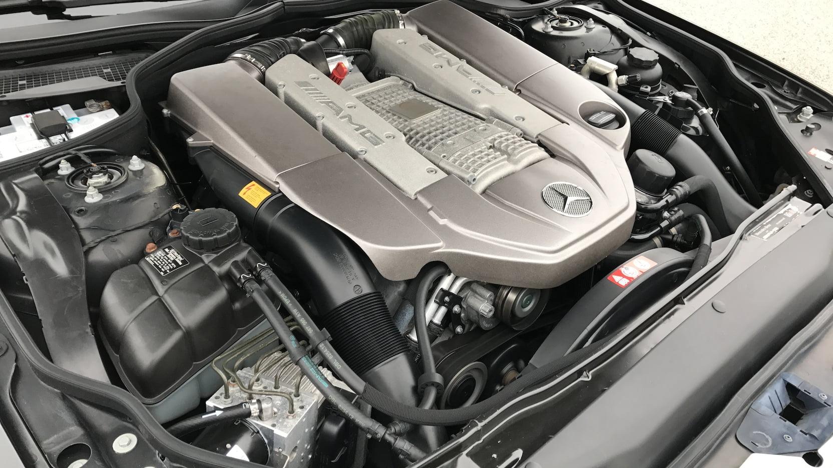 Mercedes-Benz SL 55 AMG Двигатель