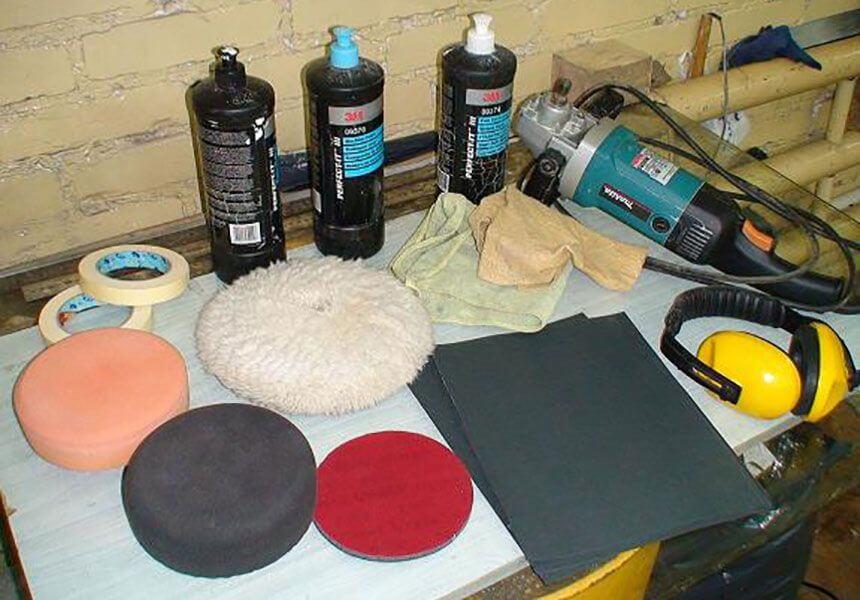 Материалы для полировки кузова дома